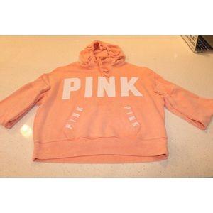 PINK salmon logo hoodie